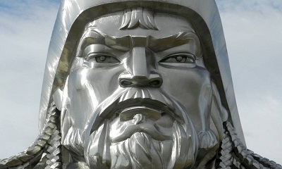 ইতিহাসে যোদ্ধা এবং সেনানায়ক চেঙ্গিস খান।