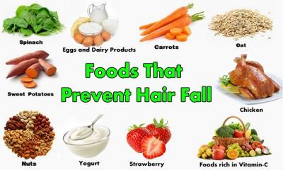Some Foods to Prevent Hair Fall