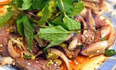Thai waterfall beef salad